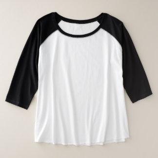 Plus-Grootte 3/4 Raglan 3 van vrouwen van het Grote Maat Raglan T-shirt