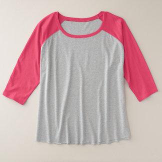 Plus-Grootte 3/4 van vrouwen Raglan van het Sleeve Grote Maat Raglan T-shirt