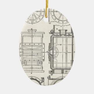 Pocletbook van de werktuigkundige keramisch ovaal ornament