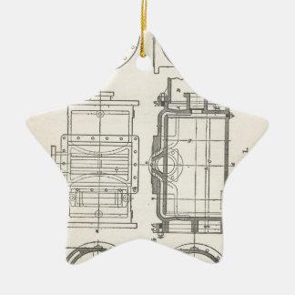 Pocletbook van de werktuigkundige keramisch ster ornament
