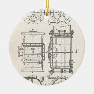 Pocletbook van de werktuigkundige rond keramisch ornament