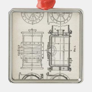 Pocletbook van de werktuigkundige zilverkleurig vierkant ornament