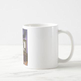 Poe toont koffiemok