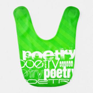 Poëzie; De Groene Strepen van het neon Baby Slabbetje