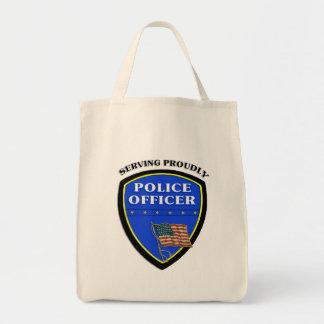 Politie die trots dienen draagtas
