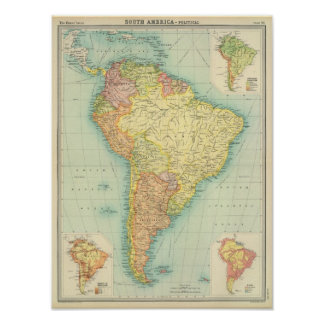 Politiek Zuid-Amerika Poster