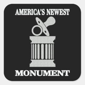 Politieke Humor het Nieuwste Monument van | Vierkante Sticker
