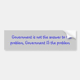 Politieke slogan over overheid bumpersticker