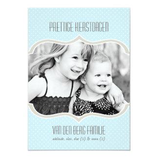 Polka Kaart van DE Vakantie Kerstmis Punt 12,7x17,8 Uitnodiging Kaart