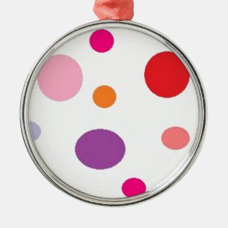 polkadots zilverkleurig rond ornament