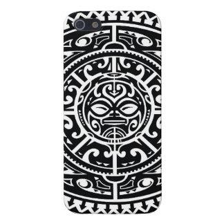 Polynesisch StammenGezicht 1 iPhone 5 Covers