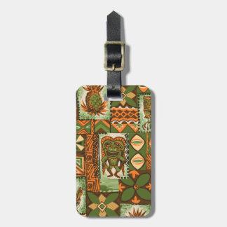 Pomaika'i Tiki Hawaiiaanse Vintage Tapa Kofferlabel