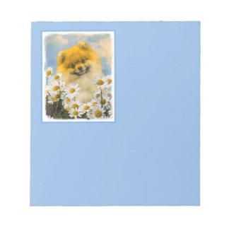 Pomeranian in Madeliefjes Notitieblok