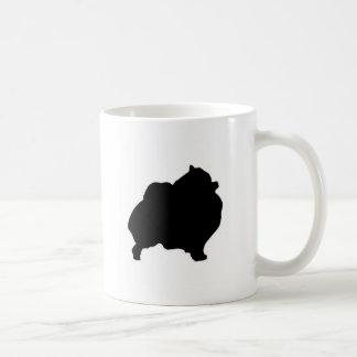 pomeranian silhouet koffiemok