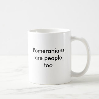 Pomeranians is ook mensen koffiemok