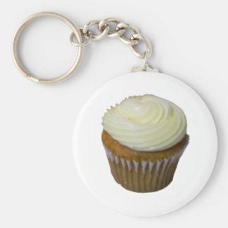 Pompoen Cupcake Basic Ronde Button Sleutelhanger