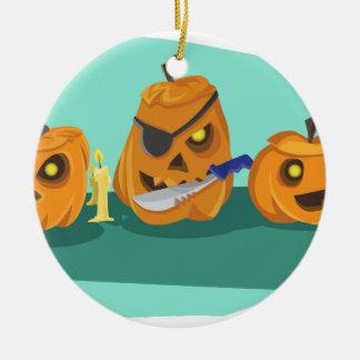 pompoen rond keramisch ornament