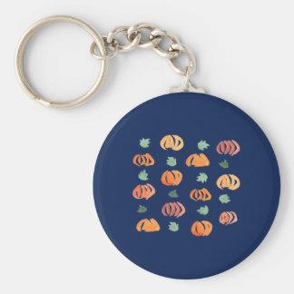 Pompoenen met de BasisKnoop Keychain van Bladeren Sleutelhanger