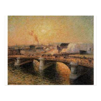 Pont Boieldieu, Rouen, Zonsondergang Camille Briefkaart