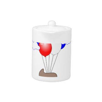 Poo Emoji die met Ballons vliegen