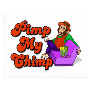 Pooi Mijn Chimpansee Briefkaart