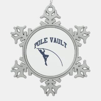 Pool Valt Tin Sneeuwvlok Ornament