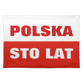 Poolse vlag placemat   Polen kleur Sto Lat Polska