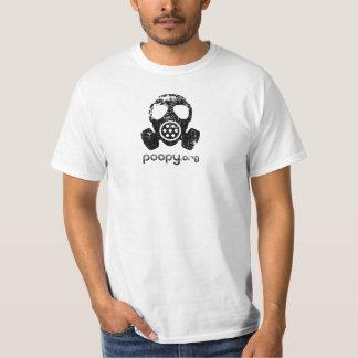 poopy gasmaskert-shirt t shirt