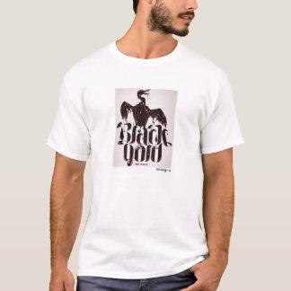 poopy zwarte gouden t-shirt