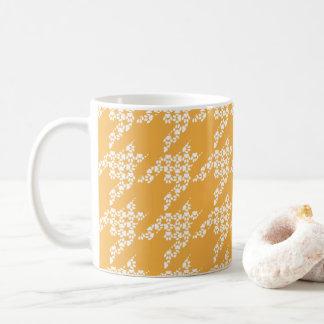 Poot-voor-koffie Mok (Boter/Wit)