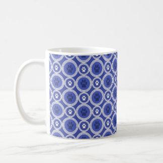 Poot-voor-koffie Mok (Kobalt)