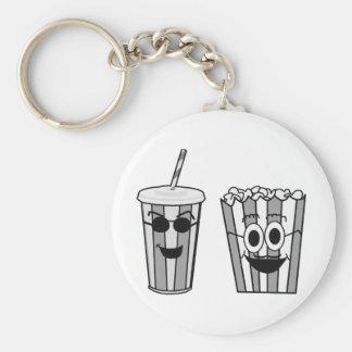 popcorn en soda sleutelhanger