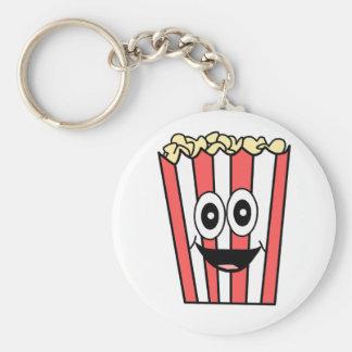 popcorn het glimlachen sleutelhanger