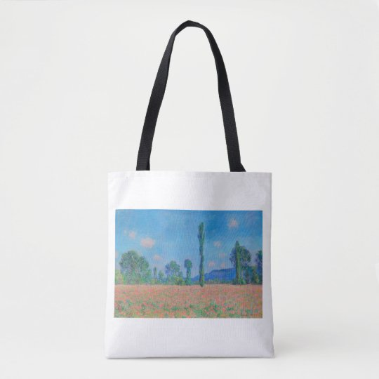 """""""POPPY FIELD, GIVERNY 1890-1891"""" CLAUDE MONET TOTE BAG"""