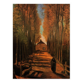 Populieren in Autumn Van Gogh Fine Art. Briefkaart