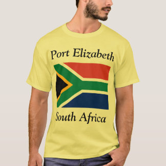 Port Elizabeth, Zuid-Afrika met Vlag T Shirt