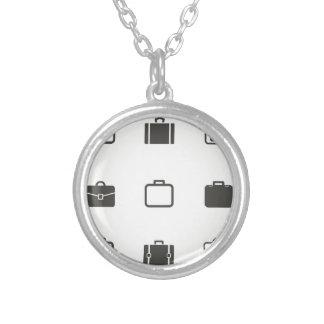 Portefeuille een pictogram zilver vergulden ketting