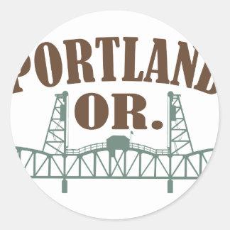 Portland OF Ronde Sticker