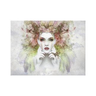 Portret 12 van het Gezicht van de vrouw Art. van Canvas Afdrukken