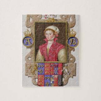 Portret de 2de Koningin van van Anne Boleyn (1507- Legpuzzel
