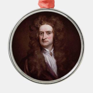 Portret de Heer Isaac Newton door de Heer Godfrey Zilverkleurig Rond Ornament