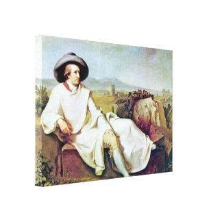 Portret Johann Heinrich Wilhelm - Goethes Canvas Afdruk