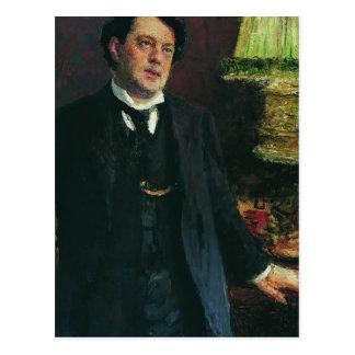Portret van advocaat Oskar Grusenberg door Ilya Briefkaart