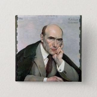 Portret van Andre Gide 1924 Vierkante Button 5,1 Cm