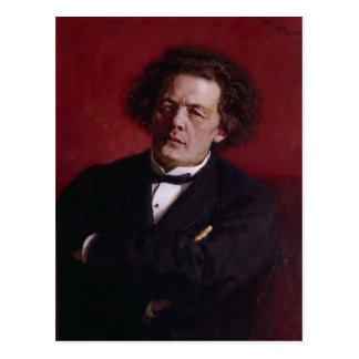 Portret van Anton Grigoryevich Rubinstein, 1881 Briefkaart