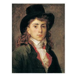 Portret van Baron Antoine Jean Gros Aged 20 Briefkaart