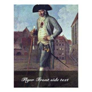 Portret van Baron Rohrscheidt door Wilck Johann Flyer 21,6 X 27,9 Cm