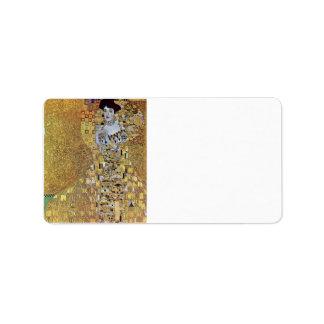 Portret van blok-Bauer 2 door Gustav Klimt Etiket