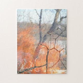 Portret van brandelementals bij spel foto puzzels