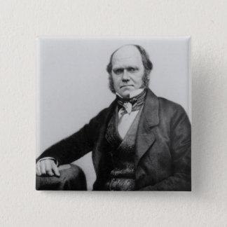 Portret van Charles Darwin, 1854 Vierkante Button 5,1 Cm